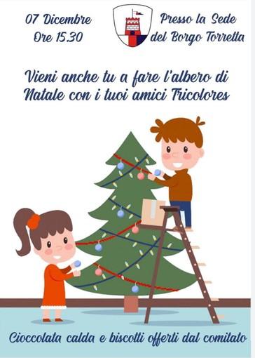 Il Borgo Torretta invita i più piccoli per addobbare l'albero di Natale