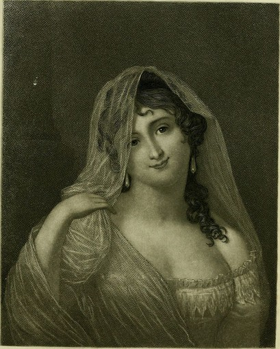 Immagine d'epoca di Virginia Oldoni Verasis, contessa di Castiglione