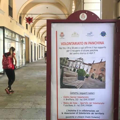 Sono 36 le associazioni che si prenderanno cura delle panchine del centro storico di Asti