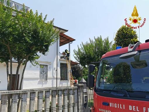 Asti, mattinata intensa per i vigili del fuoco in via Nogaro e in via Visconti [FOTO]