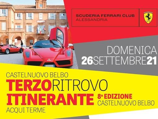 A Castelnuovo Belbo arrivano le Ferrari. Giro per le colline e arrivo ad Acqui Terme