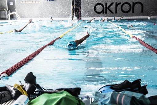 Atleti dell'Asti Nuoto in vasca
