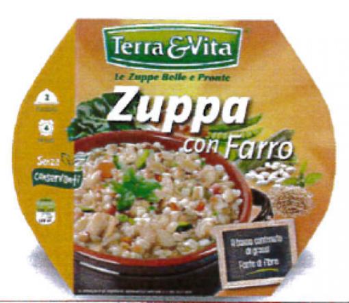 Richiamato lotto di zuppa con farro per possibile rischio microbiologico